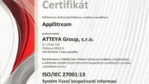 ApplStream ISO 27001